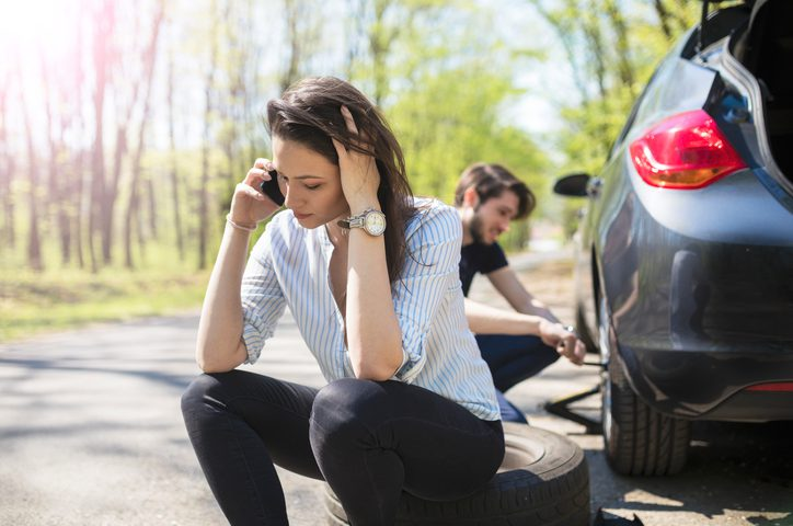 Call Paule Towing if you need help changing a flat tire.