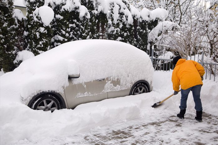 Paule Towing can help if your car is stuck in a snow drift.